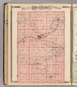 Map of Huntington County.