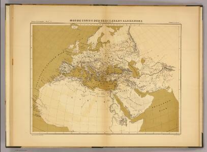 Monde connu des Grecs avant Alexandre.