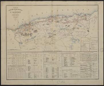 Carte agricole et industrielle de l'Algérie