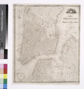 New map of the city of New York with part of Brooklyn & Williamsburg / by J. Calvin Smith ; engraved on steel by Stiles, Sherman & Smith.