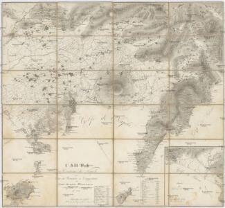 Carta dé contorni di Napoli per uso dé forestieri e viaggiatori