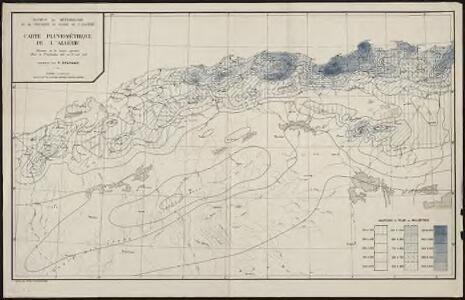 Carte pluviométrique de l'Algérie