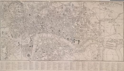 A NEW MAP OF LONDON with the adjacent Villages Including the New Streets and Public Buildings CORRECTED TO 1832