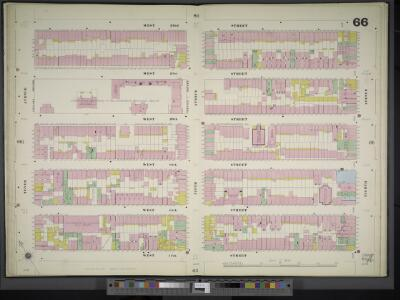 Manhattan, V. 3, Double Page Plate No. 66 [Map bounded by W. 22nd St., 8th Ave., W. 17th St., 10th Ave.]