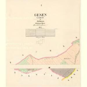 Gesen (Gesenj) - c2848-1-001 - Kaiserpflichtexemplar der Landkarten des stabilen Katasters
