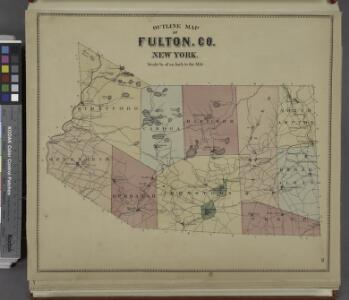 Outline Map of Fulton Co. New York.