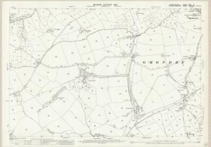 Pembrokeshire XXIV.14 (includes: Grondre; Llandissilio East; Llawhaden; Narberth North; Velfrey) - 25 Inch Map