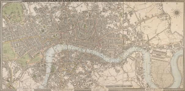CRUCHLEY'S NEW PLAN OF LONDON IMPROVED TO 1826 INCLUDING THE EAST AND WEST INDIA DOCKS 226
