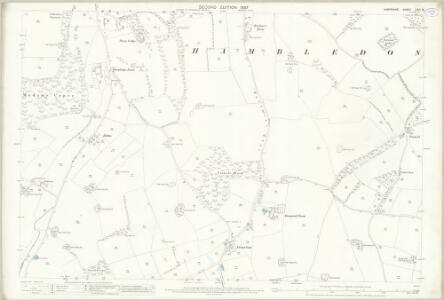 Hampshire and Isle of Wight LXVII.8 (includes: Denmead; Hambledon) - 25 Inch Map