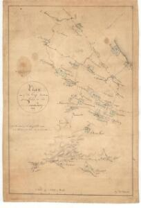 Plan of the crossroads from Linton to Queensferry.