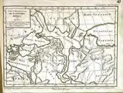 Erste Revolution des Kaspischen Meeres, oder Karte, worauf dessen Ausdehnung um die Zeit der ursprünglichen Bevölkerung Asiens angezeigt wird