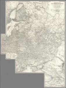 Composite: Sheets 1 - 16 Kriegsstrassen Karte eines Theiles von Russland
