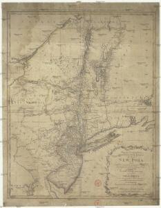 Mappa geographica provinciae novae eboraci ab anglis New-York