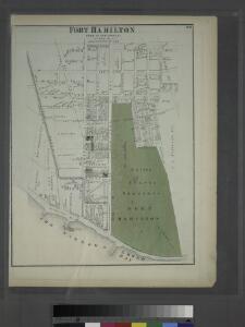 Fort Hamilton. Town of New Utrecht, Kings Co. L.I.
