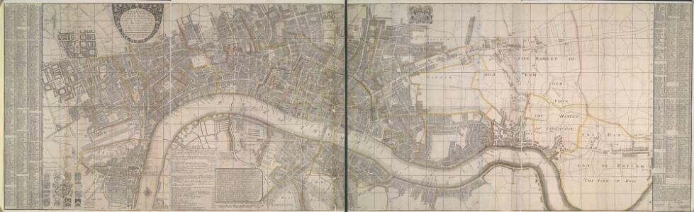 A New and Exact Plan of Ye City of LONDON and suburbs thereof, 1731 92