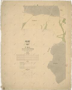 Katastrální mapa obce Bohy WC-VI-18 ce cf