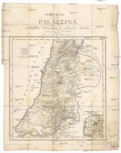 Karte von Palaestina