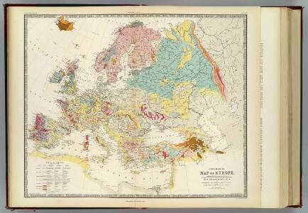 Geological map Europe.
