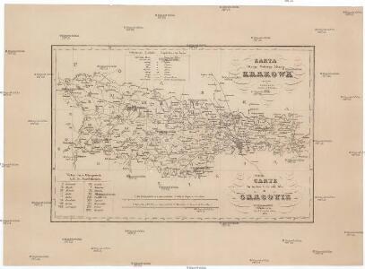 Karta okręgu wolnego miasta Krakowa