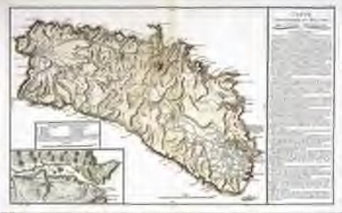 Carte topographique et militaire de l'isle de Minorque