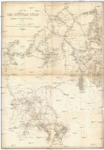 Map of the egyptian Sudan