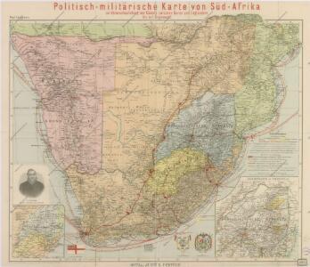 Politisch - militärische Karte von Süd-Afrika