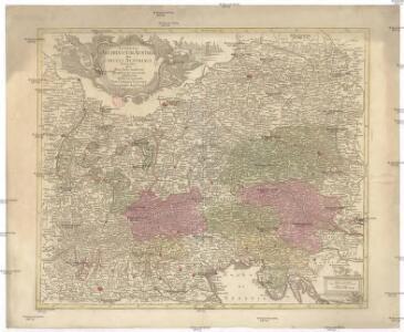 Potentia archiducum Austriae sive circuli Austriaci delineatio, qua illius fines hodierni graphice et accurate exhibentur