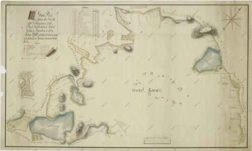Mapa území mezi třeboňským panstvím a činžovními pozemky vsi Kolence 1
