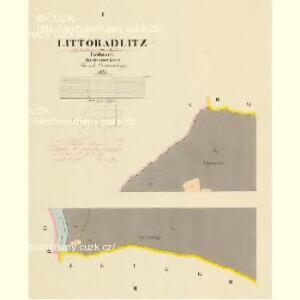 Littoradlitz - c4173-1-001 - Kaiserpflichtexemplar der Landkarten des stabilen Katasters