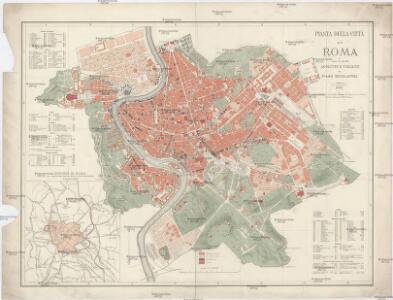 Pianta della citta di Roma