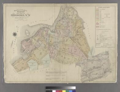 Outline & Index Map of the City of Brooklyn, Kings County, N.Y.
