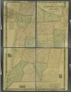 Map of Dutchess County, New-York from original surveys / J.C. Sidney C.E., author of 12 miles around New York.