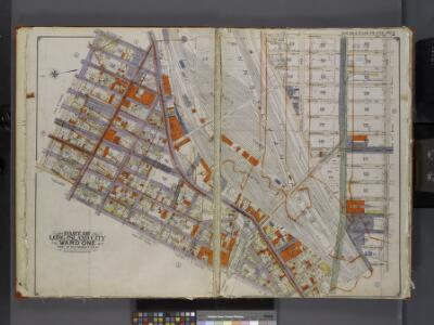 Queens, V. 2, Double Page Plate No. 3; Part of Long Island City, Ward 1; [Map bounded by Van Pelt St., Nelson Ave., Prospect St., Washington Ave.] / by and under the supervision of Hugo Ullitz.