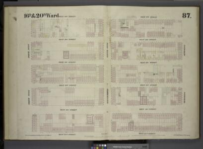 [Plate 87: Map bounded by West 27th Street, Sixth Avenue, West 22nd Street, Eighth Avenue.]