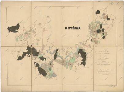Přehledová mapa panství Štěkeň