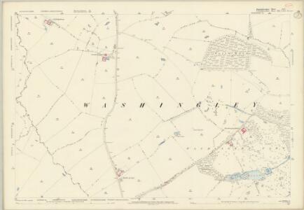 Huntingdonshire IX.1 (includes: Folksworth and Washingley; Lutton; Warmington) - 25 Inch Map