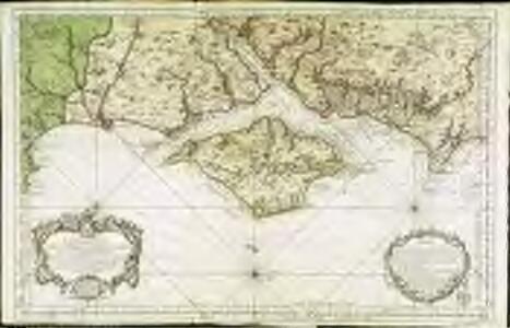 Carte réduite de l'isle de Wight et costes voisines