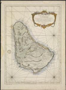 Carte de l'Isle de La Barbade, avec une description geographique de cette isle