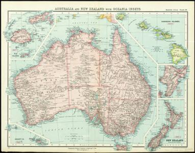 Australia and New Zealand with Oceania Insets - Missions Atlas Plate 20