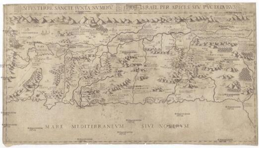 Sitvs terre sancte ivxta nvmerv[m] filior[um] Israel per apices sev pv[n]cta divisvs