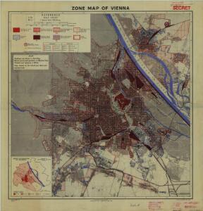 Zone maps of Vienna, GSGS 4399, 1:25,000