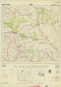 Kenya 1:50,000 (Sheet 89/III)