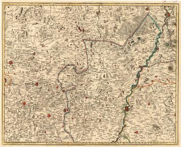 Carte Contenant le Pais entre Venlo, Liege, Louvain, et Malines