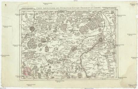 Carte particuliere des environs de Louvain Tirlemont et Leeuwe