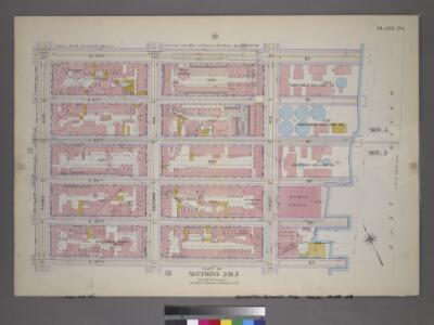 Plate 24, Part of Sections 3&5: [Bounded by E. 42nd Street, (East River Piers) First Avenue, E. 37th Street and Third Avenue.]