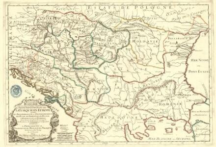 Le Royaume de Hongrie et les Estats qui en ont été sujets et qui font presentem la Partie Septentrionale de la Turquie en Europe