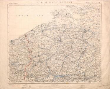 North West Europe: front line, June 27th, 1916, from Nieuport to Lens