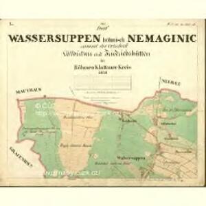 Wassersuppen - c5024-1-001 - Kaiserpflichtexemplar der Landkarten des stabilen Katasters