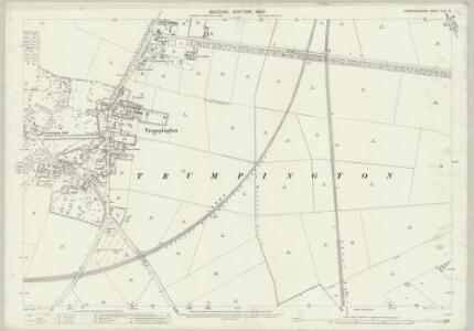 Cambridgeshire XLVII.10 (includes: Cambridge; Great Shelford; Haslingfield) - 25 Inch Map