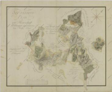 Situační plán statku Bzí a přilehlých pozemků 1